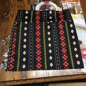 NWOT Aztec Print Body Con Skirt
